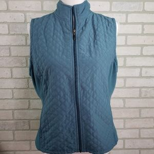 Columbia Quilted Vest Blue LG Lightweight